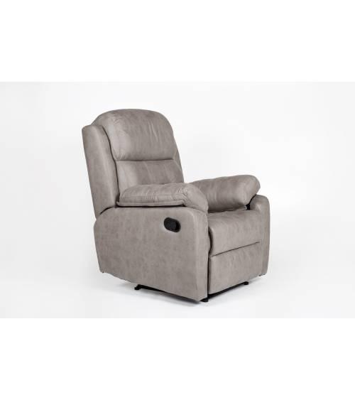 Sillón relax Genova, butaca reclinable con palanca