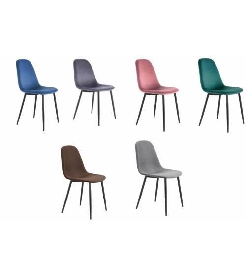 Pack de 4 sillas comedor HALL tapizadas velvet